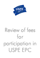 Review of fees for participation in USPE EPC